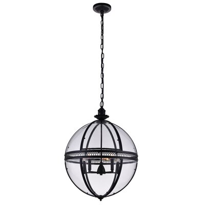 Reggie 5-Light Globe Pendant Finish: Black
