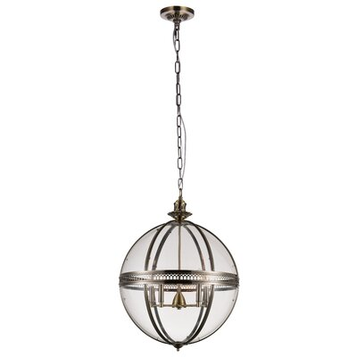 Reggie 5-Light Globe Pendant Finish: Bronze