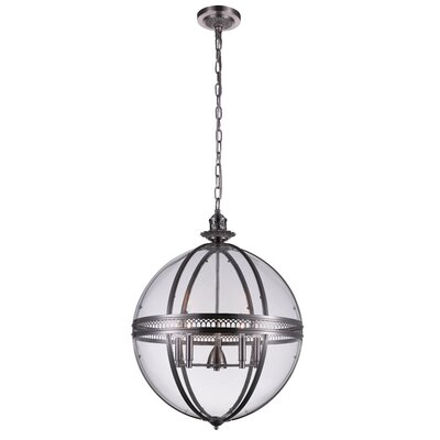 Reggie 5-Light Globe Pendant Finish: Nickel
