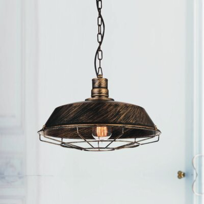 Morgan 1-Light Pendant Finish: Black