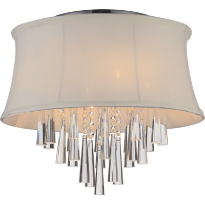 Audrey 4-Light Flush Mount Shade Color: Beige
