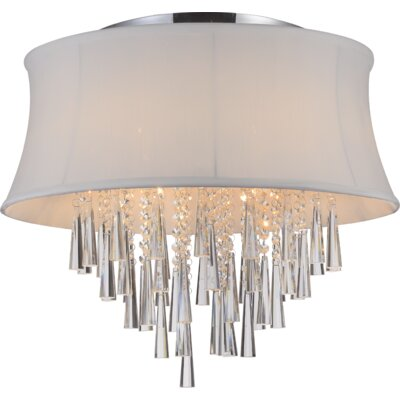 Audrey 8-Light Flush Mount Shade Color: White