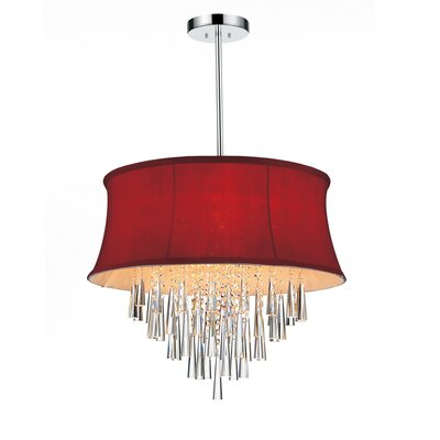 Audrey 8-Light Drum Chandelier Shade Color: Rose Red