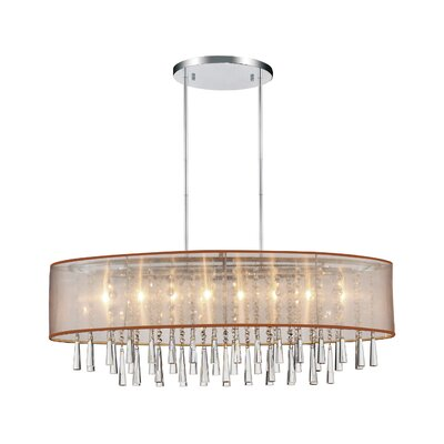 Renee 8-Light Drum Chandelier Shade Color: Gold