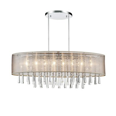Renee 8-Light Drum Chandelier Shade Color: Off-White