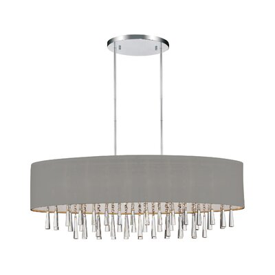 Renee 8-Light Drum Chandelier Shade Color: Silver