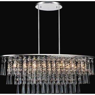 8-Light Crystal Chandelier