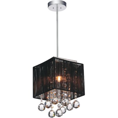 1-Light Mini Pendant Shade Color: Black