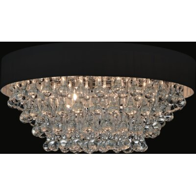 8-Light Flush Mount Shade Color: Black