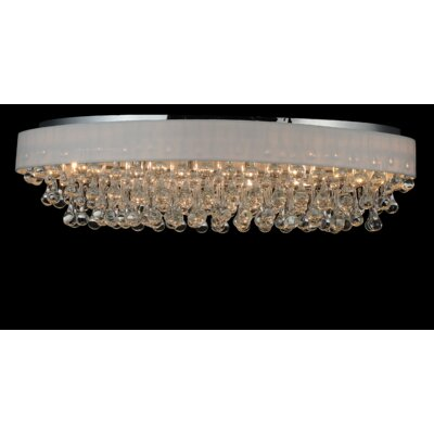 10-Light Flush Mount Shade Color: White
