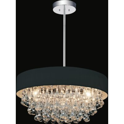 6-Light Crystal Chandelier Shade Color: Black