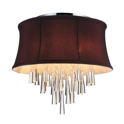 Audrey 4-Light Flush Mount Shade Color: Dark Purple
