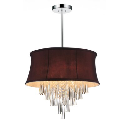 Audrey 6-Light Drum Chandelier Shade Color: Dark Purple