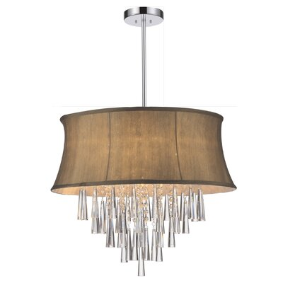 Audrey 8-Light Drum Chandelier Shade Color: Brown