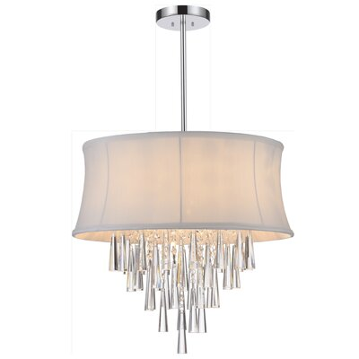 Audrey 8-Light Drum Chandelier Shade Color: Off-White