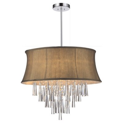 Audrey 4-Light Drum Chandelier Shade Color: Brown