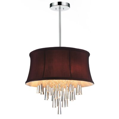Audrey 4-Light Drum Chandelier Shade Color: Dark Purple