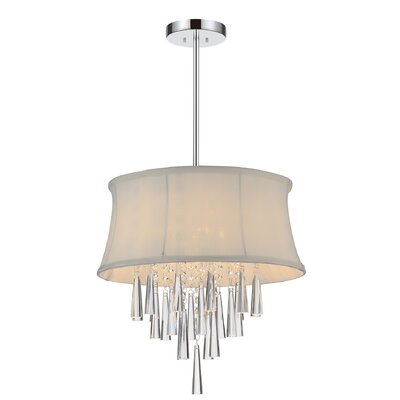 Audrey 4-Light Drum Chandelier Shade Color: White
