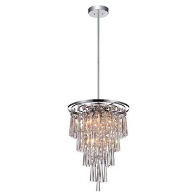 6-Light Crystal Chandelier Size: 90 H x 14.8 W x 14.8 D