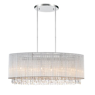 6-Light LED Drum Chandelier Shade Color: White