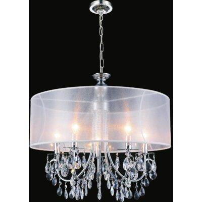 8-Light LED Drum Chandelier Shade Color: White
