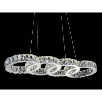 1-Light LED Crystal Chandelier