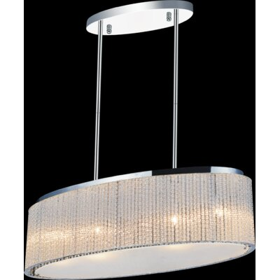 5-Light LED Drum Chandelier