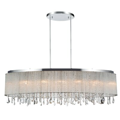 5-Light LED Drum Chandelier Size: 11 H x 38 W x 38 D