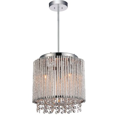 Claire 3-Light Crystal Pendant
