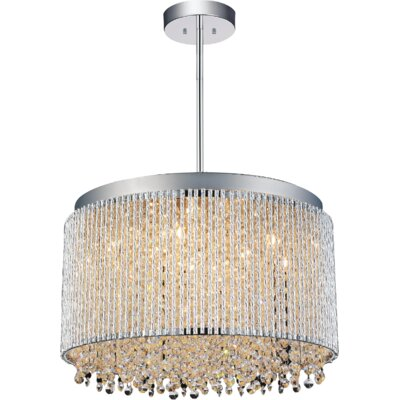 Claire 10-Light Crystal Pendant