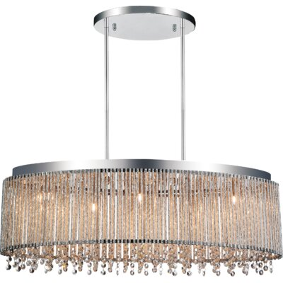 Claire 5-Light Crystal Pendant