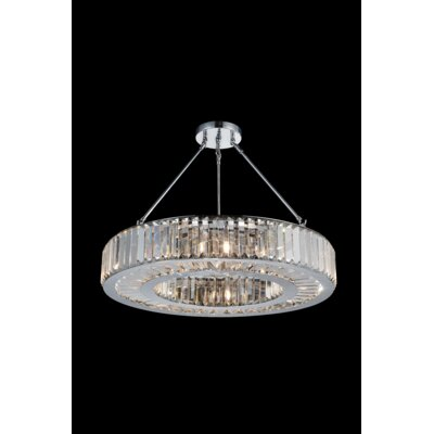 Leanne 8-Light Semi Flush Mount