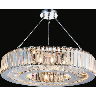 Leanne 9-Light Semi Flush Mount