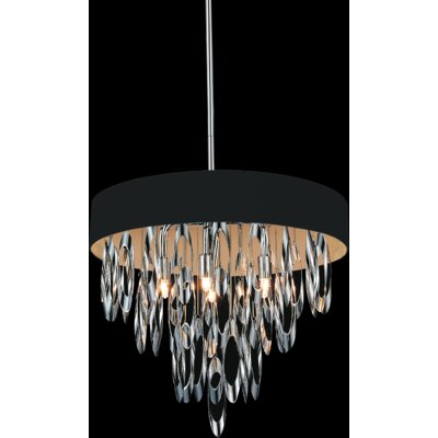 Excel 6-Light Crystal Chandelier Shade Color: Black