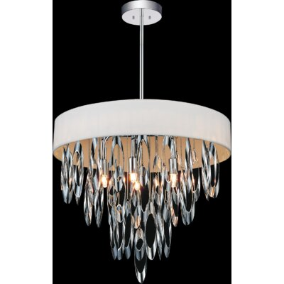 Excel 6-Light Crystal Chandelier Shade Color: White