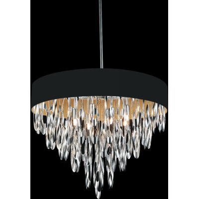 Excel 8-Light Crystal Chandelier Shade Color: Black