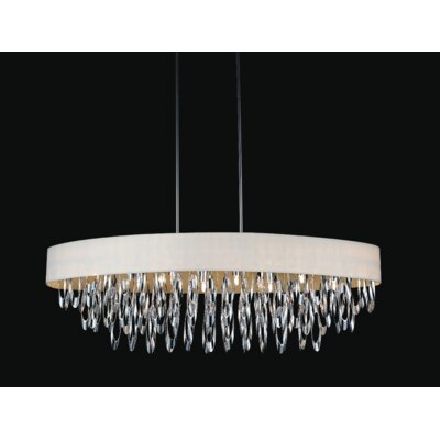 Excel 8-Light Crystal Chandelier Shade Color: White