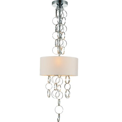 Chained 3-Light Drum Pendant