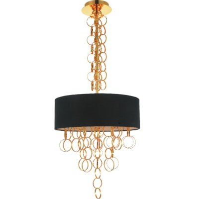 Chained 4-Light Drum Chandelier