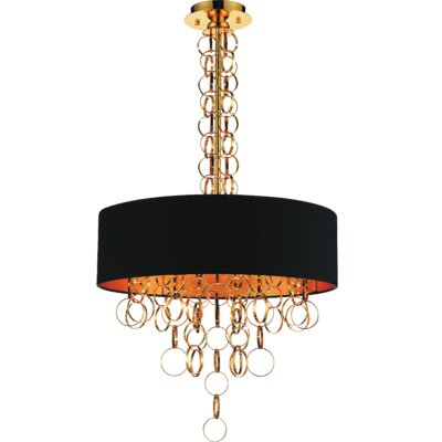 Chained 6-Light Drum Chandelier
