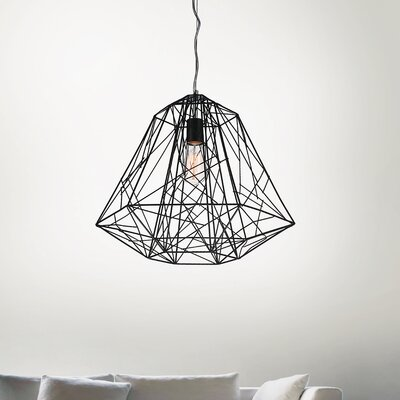 Bagheera 1-Light Foyer Pendant Size: 85 H x 16 W x 16 D