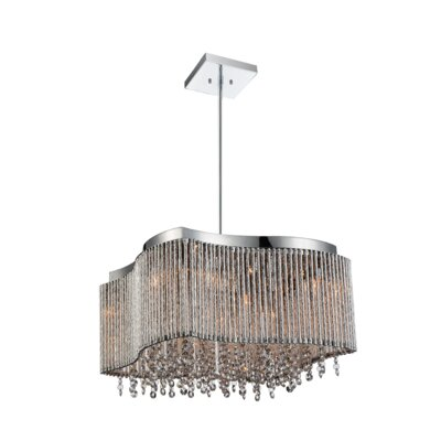 Claire 8-Light Crystal Pendant