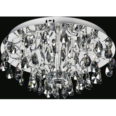 Charismatic 8-Light Flush Mount Finish: Clear