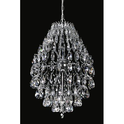 Charismatic 9-Light Crystal Chandelier