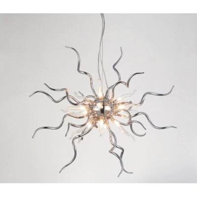Twist 15-Light Sputnik Chandelier