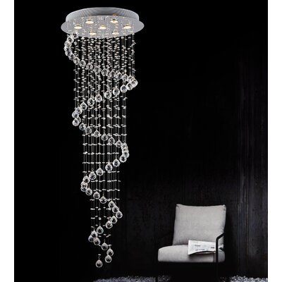 Spiral 7-Light Flush Mount Size: 59 H x 20 W x 20 D
