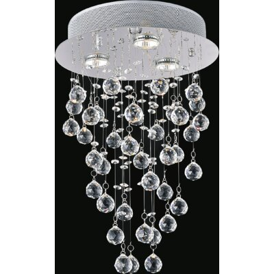 Rain Drop 3-Light Flush Mount