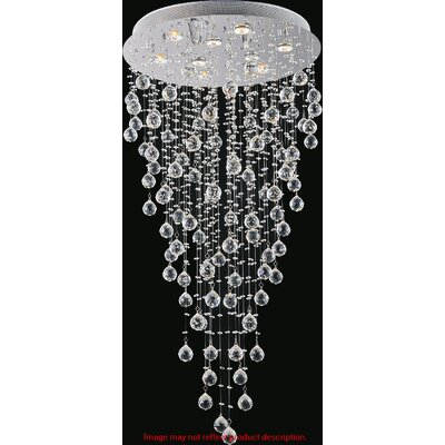 Rain Drop 9-Light Flush Mount Size: 68 H x 24 W x 24 D