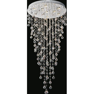 Rain Drop 10-Light Flush Mount