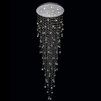 Rain Drop 12-Light Flush Mount